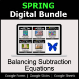 Balancing Subtraction Equations - Digital Spring Math Bundle