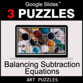 Balancing Subtraction Equations - Google Slides - Art Puzzles