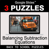 Balancing Subtraction Equations - Google Slides - Back To