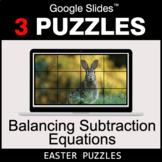 Balancing Subtraction Equations - Google Slides - Easter Puzzles