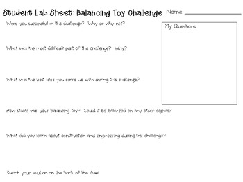 Balancing Toy: Engineering Challenge Project ~ Great STEM Activity!