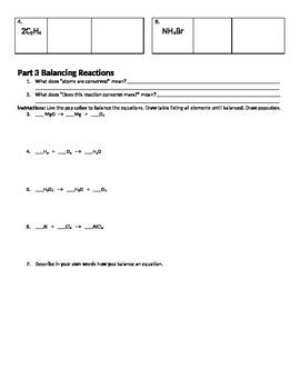 Balancing Worksheets