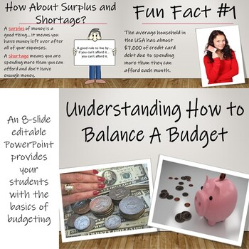 The Economics of Balancing a Budget - Calculating Budgets with Monthly Incomes