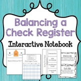 Balancing a Check Register Interactive Notebook