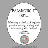 Balancing a Checkbook Activity (Adding and Subtracting Decimals)