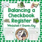 Balancing a Checkbook Register Financial Literacy Unit Money Deposit Withdrawal