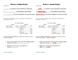 Balancing a Simple Budget Fill-In Notes