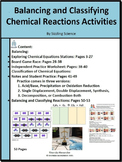 Balancing and Classifying Chemical Equations Activities