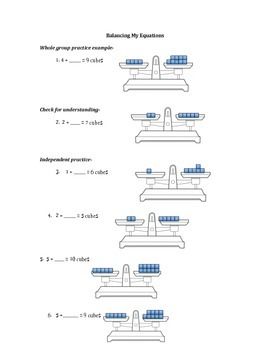 Balancing math equations!