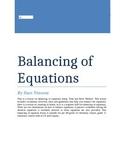 Balancing of Equations