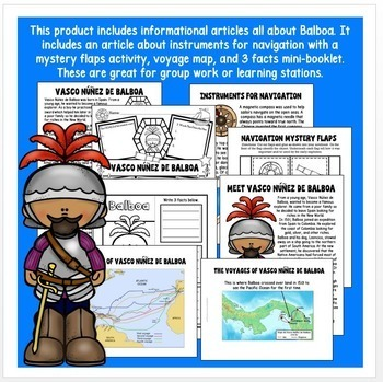 Early Explorers: Balboa Unit with Articles, Activities, & Flip Book