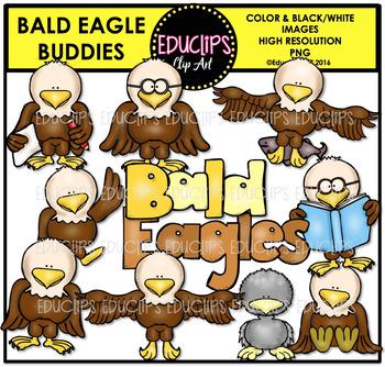 Bald Eagle Buddies Clip Art Bundle {Educlips Clipart}