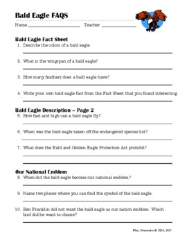 Bald Eagle FAQS: Internet Research