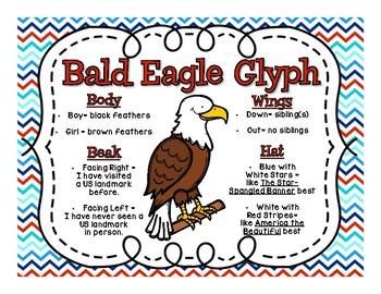 Bald Eagle Glyph Craftivity