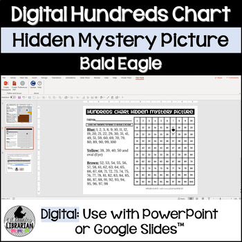 Bald Eagle Hundreds Chart Hidden Picture Activity for American Symbols Math