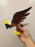 Bald Eagle Symbol of America Cut and glue 3D craft
