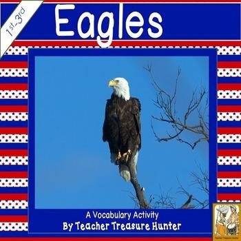 Bald Eagle vocabulary activity~vocabulary cards + writing