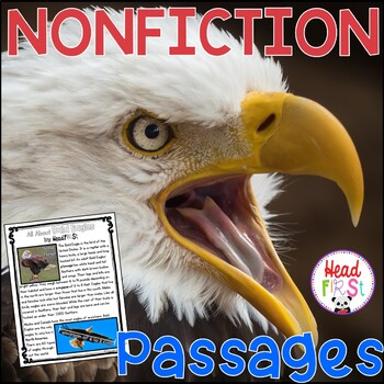 Bald Eagles Nonfiction Guided Reading Comprehension Fluency Passages 4th of July