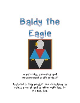 Baldy the Eagle,  A Patriotic Geometric and Measurement  Masterpiece