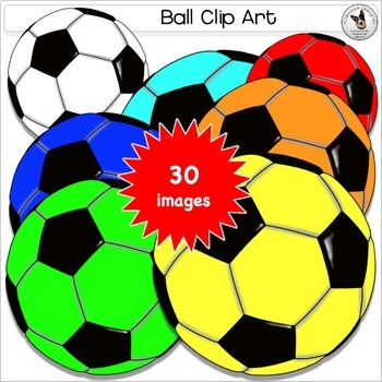 Balls Clip Art. Sport balls Basketball Football Soccer Baseball Tennis name tags