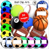 Balls Clip Art. Sport balls Basketball Football Soccer Bas