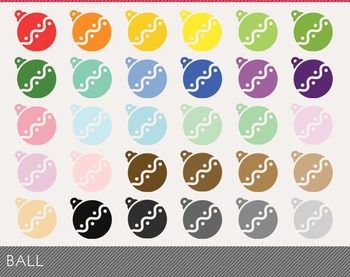 Ball Digital Clipart, Ball Graphics, Ball PNG, Rainbow Ball Digital Files
