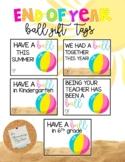 Ball Gift Tag: End of Year *EDITABLE
