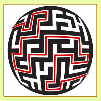 Ball Mazes Round Mazes Clip Art Set for Commercial Use