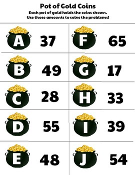 Ball Park Estimates and Addition with Regrouping- St. Patrick's Day Math