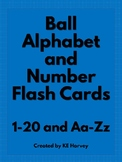 Ball Study Alphabet and Number Flash Cards
