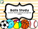 Ball Study Anchor Charts & Investigation Webs