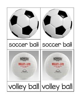 Ball Theme: Montessori 3 Part Cards