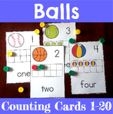 Ball Themed Counting Mats 1-20