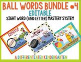 Ball Words Sight Word Mastery System Bundle #4-Editable