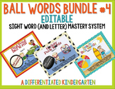 Ball Words Sight Word Mastery System Bundle #4-Editable