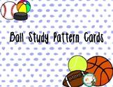 Ball theme pattern cards