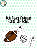 Ball themed beginning sound clip cards
