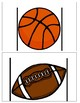 Ball themed measurement cards