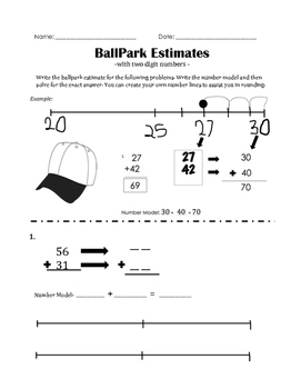 BallPark estimates with 2 digit numbers
