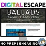 Ballad Poetic Form Digital Lock Box Escape Room Game: British/AP Lit.