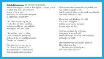 Ballad Poetry Lesson (Lesson 7 in 10 Lesson Unit)
