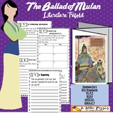 Ballad of Mulan Literature Trifold