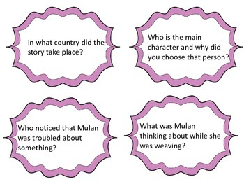Ballad of Mulan--Vocab and Comprehension--Houghton Mifflin Grade 3