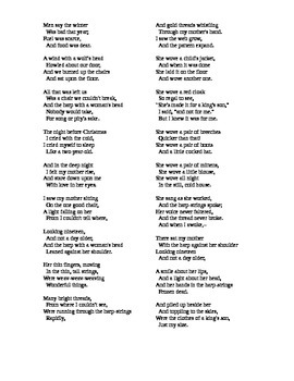 Ballad of the Harp Weaver