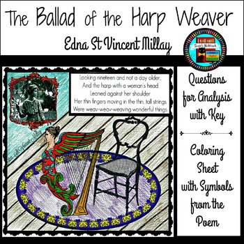 Ballad of the Harp Weaver by Edna St Vincent Millay Reading and Coloring