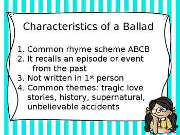 Ballads: Arts Infusion Lesson