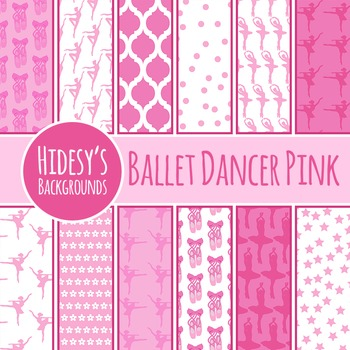 Ballerina / Ballet Dancer Backgrounds / Digital Paper / Pattern Clip Art