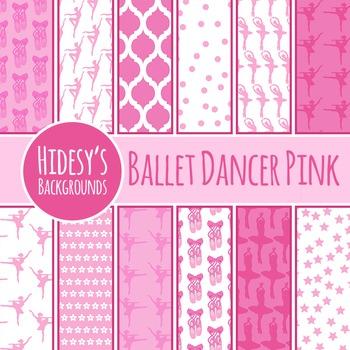 Ballerina / Ballet Dancer Backgrounds / Digital Paper / Pattern Clip Art