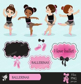 Ballerina Clipart, Ballet Clipart, Tutu Clipart, Ballet Slippers.