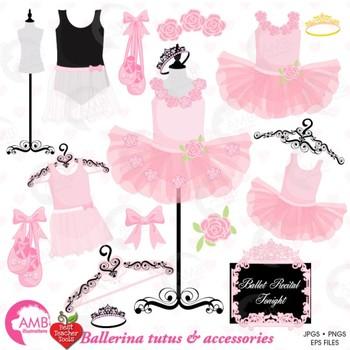Ballerina Clipart & Digital Papers Combo Bundle {Best Teacher Tools} AMB-1612